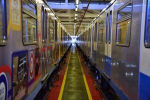 Тематический поезд «Московская весна a cappella» запустили в столичном метро. Фото: Антон Гердо, «Вечерняя Москва»