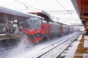 Пассажирские платформы МЦК очистили от снега в штатном режиме. Фото: Владимир Новиков, «Вечерняя Москва»