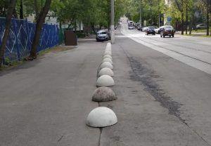 Несколько антипарковочных полусфер установили на Большой Калитниковской улице. Фото предоставлено ГБУ «Жилищник» Таганского района