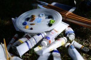 Занятие по изобразительному искусству прошло в парке «Таганский». Фото: Наталья Феоктистова, «Вечерняя Москва»